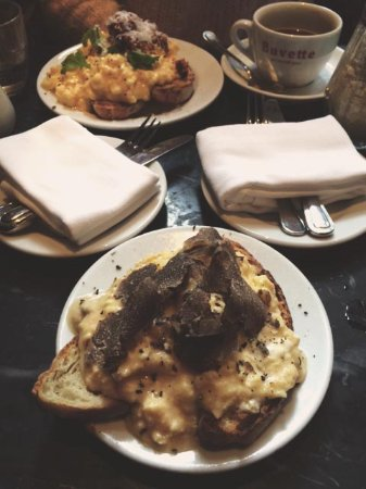 scrambled eggs and truffle at Buvette NYC - Picture of