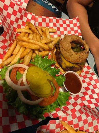 Aubrey, TX: cowboy burger