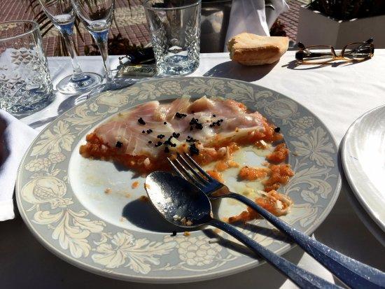 Lo Pagan, Spain: carpaccio van kabeljauw..