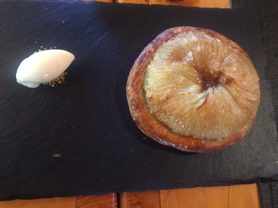 Restaurant La Fleur de Sel : tarta de manzana, riquísima!