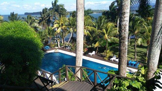 Hotel Villa Caribe: Vista a la piscina y mar caribe