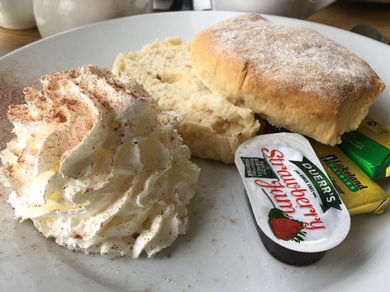 A scone at the Coffee Club