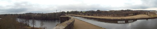 Lancaster, UK: Panorama from teh top of the Aqueduct