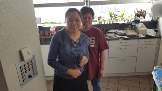 Schwyz, Switzerland: this friendly thai  women  Ramphan and her mate   are cooking  together