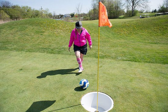 Plymouth, MI: FootGolf is the combination of soccer & golf, it is fun for all ages @ our Strategic Fox Course