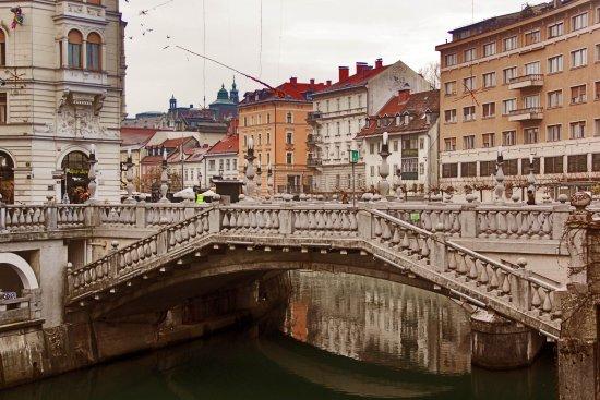 Triple Bridge (Tromostovje): тройной мост