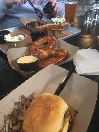 Leesburg, VA: BVQ barbecue (Chef Brian Voltaggio) sells top notch, high quality sandwiches, BBQ plates, and sm