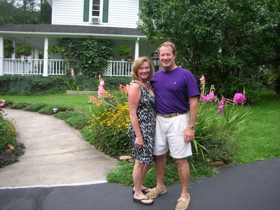 Lovill House Inn: Your innkeepers, Scott & Anne, welcoming guests for the last 16 years!