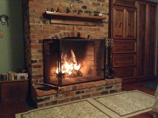 Lovill House Inn: The Bristol room fireplace, site of the founding of Appalachian State University in 1903.