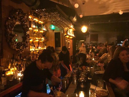 Antique Bar & Bakery: the bar scene.