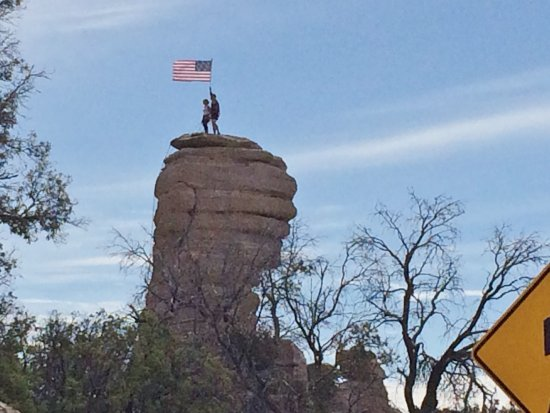 Mt. Lemmon Scenic Byway: Rock climbers at Windy Point (around milepost 13)
