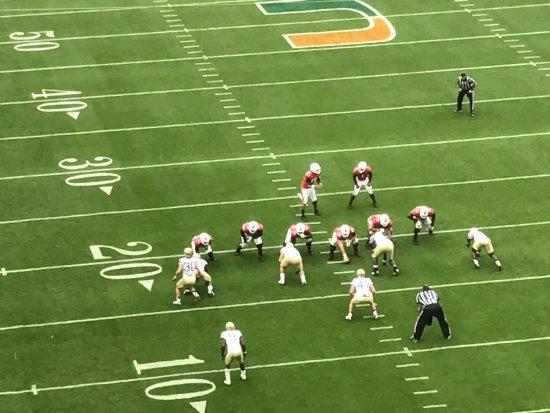Miami Gardens, Φλόριντα: Game on. good seats