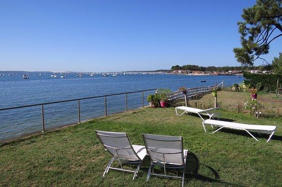 Gironde, Francia: View from the terrace-pool / Vue de la terrasse-piscine