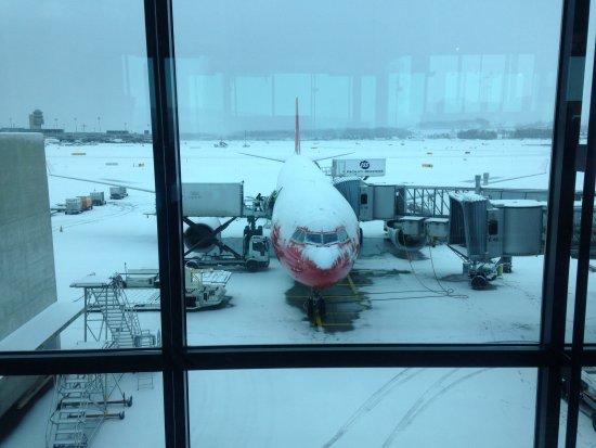 Edelweiss Air: Départ de Zurich avec neige