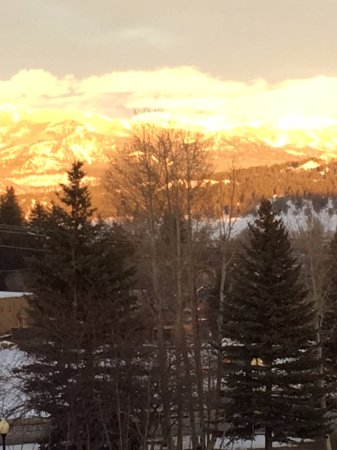 Pagosa Springs, CO: Sunset from rooftop tub