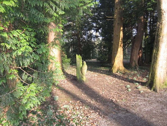 Bedale, UK: Wooden carvings in the fairy dell