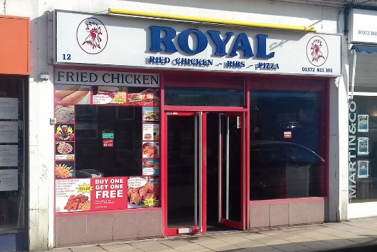 Royal Fried Chicken And Pizza Leatherhead Restaurant
