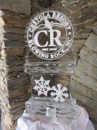 Timberlake's Restaurant at Chetola Resort: Ice Sculpture at Chetola