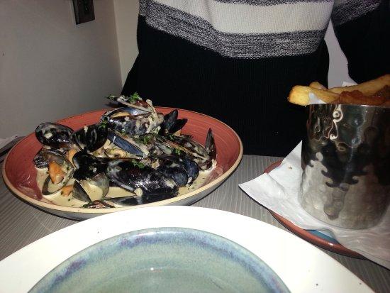 Littlehampton, UK: Mussels