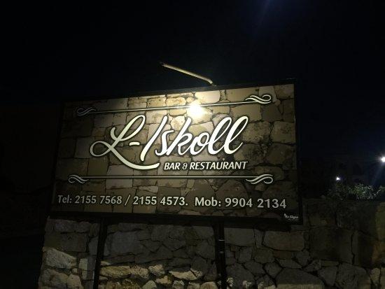 Sannat, Malta: Restaurant sign with contact details
