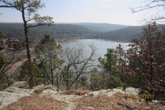 Wilburton, OK: February veiw of Robbers Cave State Park.