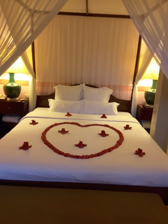 Villa Maly: Nice honeymoon touch
