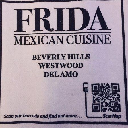 Frida Mexican Restaurant: Napkine