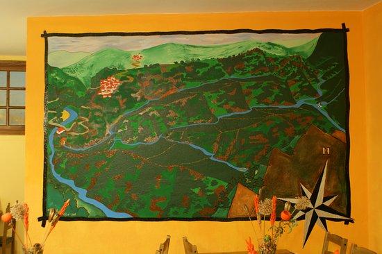 Genalguacil, España: Mural Valle del Genal