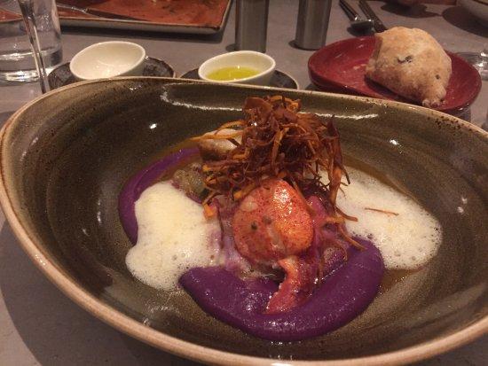 Vienna, VA: Lobster with purple potato purée and crispy sweet potatoes