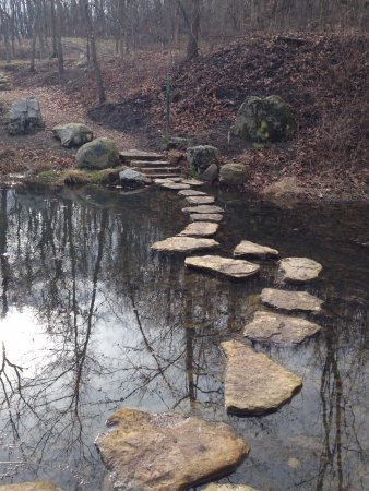 Oakdale, PA: (secured) stepping stones through the pond