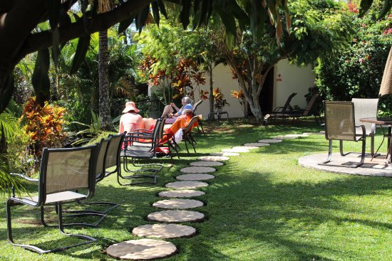 Hotel Buena Vista: Garden overlooking Central Valley