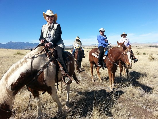 Arizona Horseback Experience: Our group of 4 riders
