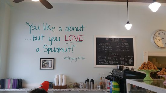 "Lethbridge, Canada: ""You like a donut but you LOVE a Spudnut!"""