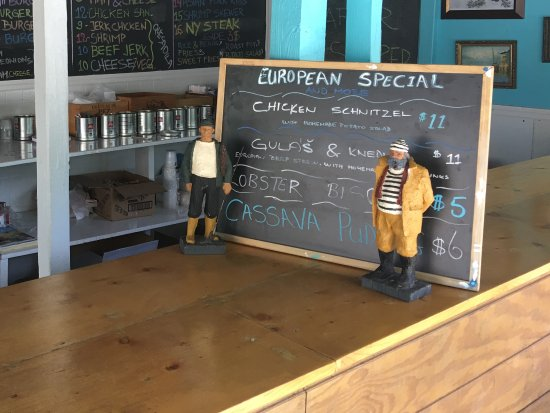 Bodden Town, Grand Cayman: Menu and daily specials