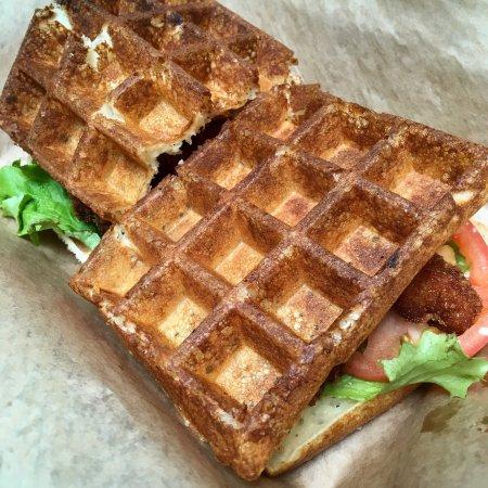 Bethesda, MD: Amazing waffle sandwiches!! Definitely worth a visit.