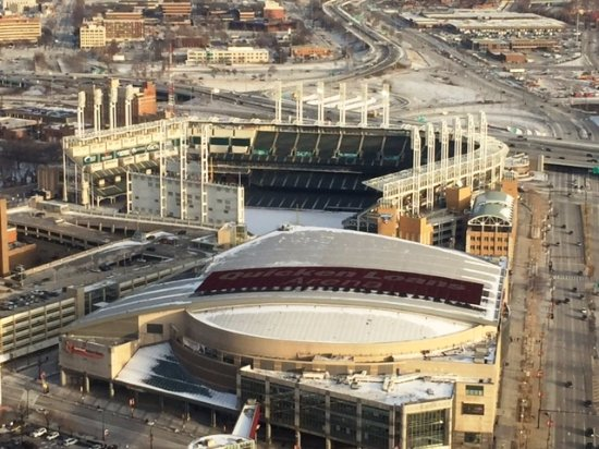 View of Progressive Field & Quicken Loans Arena - Picture of