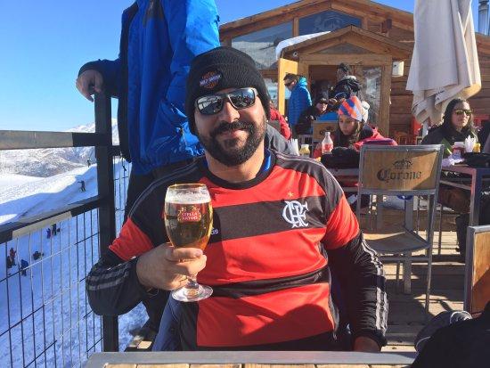 Farellones, Chile: Cervejinha em temperatura ambiente. rssss.