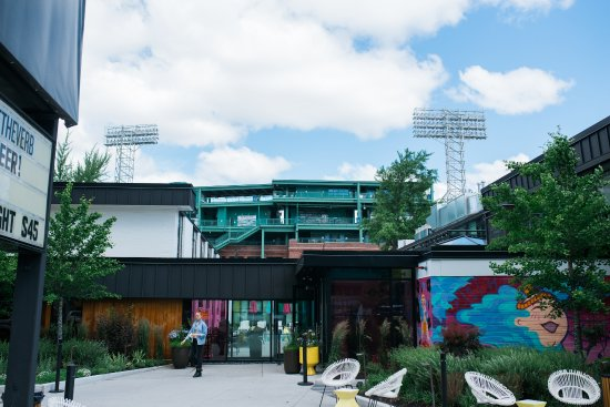 a view of fenway from the verb picture of the verb hotel. Black Bedroom Furniture Sets. Home Design Ideas