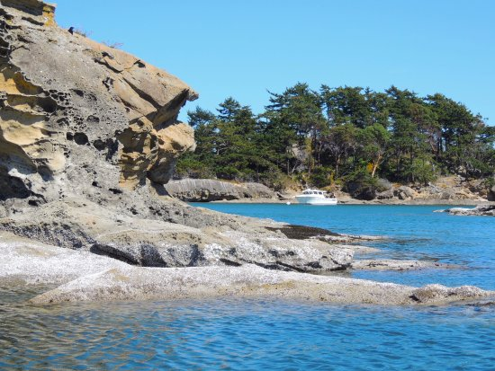 Eastsound, WA: Sandstone formations at Sucia Island.