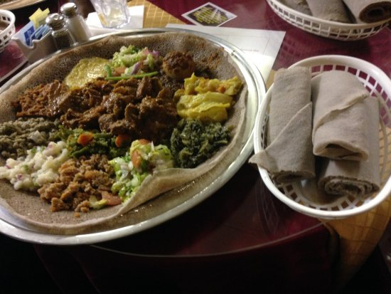 Loma Linda, CA: Vegetarian delight and marinated beef