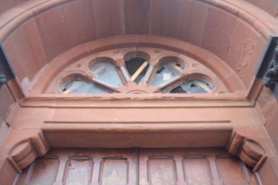 St. Joseph's Catholic Church : Fanlight over the door.