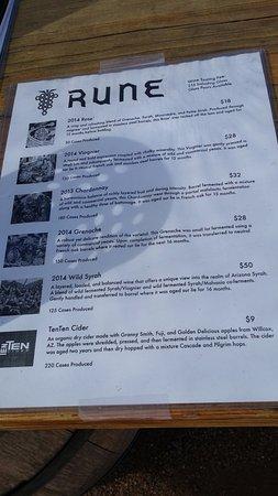 Sonoita, AZ: Tasting menu