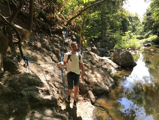 Montezuma, Costa Rica: Gino from NY joined us on our hike.