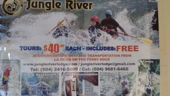 Jungle River Lodge: False advertising