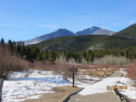 Peak to Peak Scenic Byway: Lily Lake Trail with Long's Peak in the Background