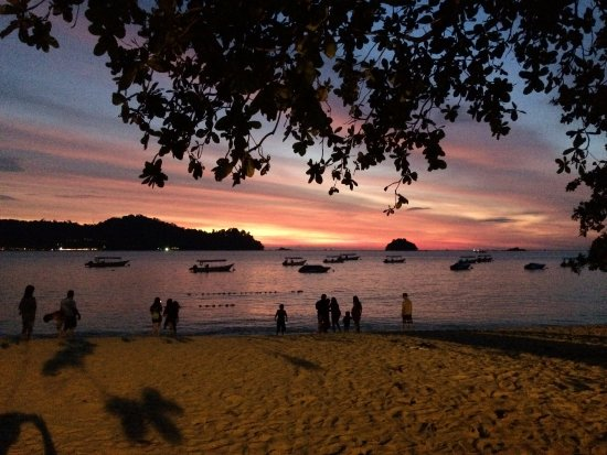 Best Stay Hotel Pangkor Island: The beach at sunset.