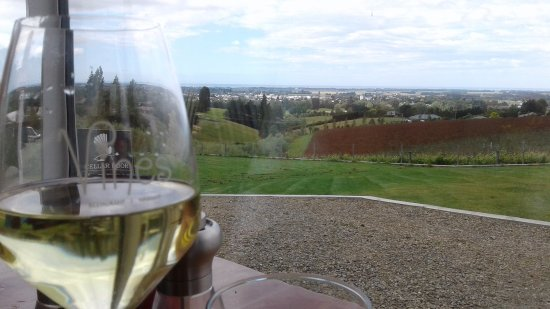 Waimate, Nya Zeeland: The wine is superb, and the views match!