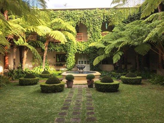 Palacio de Dona Leonor: A view of the lush courtyard