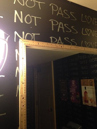 Arvada, CO: Even the mirror in the bathroom is framed with rulers.