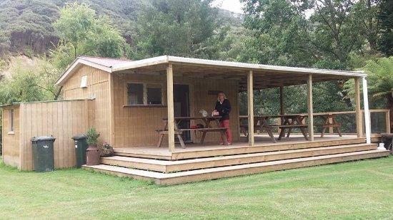 Taranaki Region, New Zealand: Kitchen and dining building